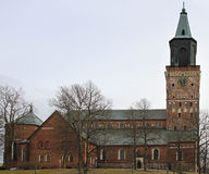 Medieval Turku cathedral in Finland Royalty Free Stock Photography