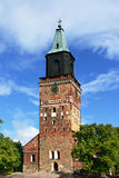 Medieval Turku cathedral in Finland Stock Images