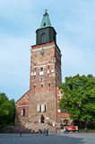 Medieval Turku cathedral in Finland Stock Image