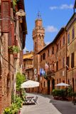 Medieval Tuscan street Stock Photography