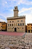 Medieval Tuscan town hall Stock Photos