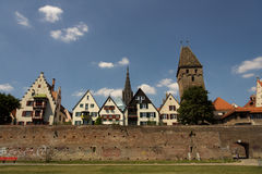 Medieval Ulm. The medieval city of Ulm, Southern Germany, in summer stock photography