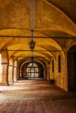 Medieval vaulted corridor Stock Photography