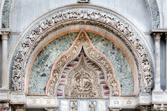 Medieval Venetian Gothic Ornaments On The San Marco Basilica Fac Stock Images