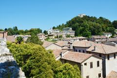 Medieval view of Asolo town, Italy Stock Photos