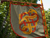 Medieval Viking knight banner flag Stock Photo