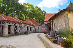 Medieval village Stock Photos