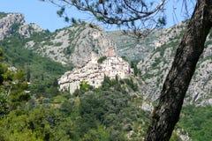 Medieval village. Peillon (France - Alpes Maritimes Royalty Free Stock Photos