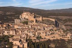 Medieval village of Alquezar Stock Photos