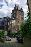 Medieval village Bacharach. Traditional frameworks Fachwerk h Stock Image