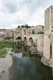 Medieval village of besalu in catalonia Spain Stock Photography