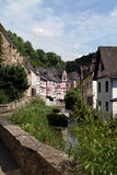 Medieval Village Centre and Creek Royalty Free Stock Image