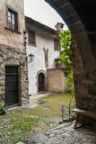 Medieval village of Cornello dei Tasso royalty free stock photo