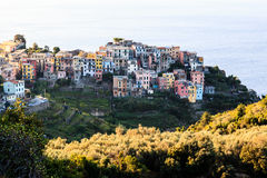 The Medieval Village of Corniglia at Morning Stock Photography