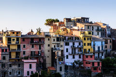 The Medieval Village of Corniglia at Morning Stock Image