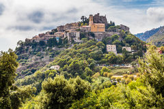 Medieval Village of Eze Located on The Hill-France Royalty Free Stock Photos