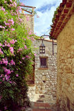 The medieval Village of Eze stock images
