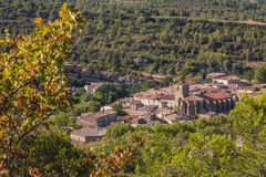Medieval village of Lagrasse, France Stock Photos
