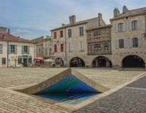 Medieval village of Lauzerte stock photo
