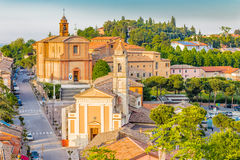 Medieval village of Longiano Stock Image