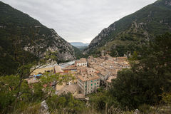 Medieval village on the marche mountains Stock Image