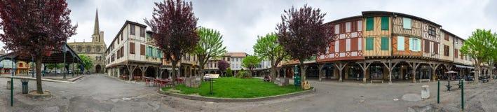 Medieval village Mirepoix Stock Photos