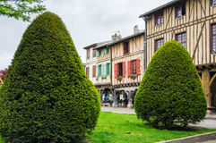 Medieval village Mirepoix Stock Photography