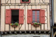 Medieval village Mirepoix Royalty Free Stock Images