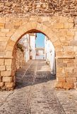 Medieval Village Monsaraz in Alentejo Portugal stock images