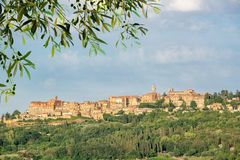 Medieval village of Montepulciano, Tuscany Italy Royalty Free Stock Photos