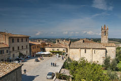 Medieval Village of Monteriggione Tuscany Stock Image