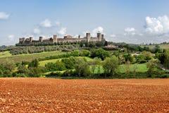 The medieval Village of Monteriggioni Stock Photo