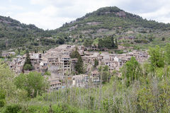 Medieval village of Mura in Barcelona province. Royalty Free Stock Images