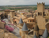 Medieval Village of Olite, Spain Stock Images