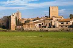 Medieval village of Peratallada Stock Image