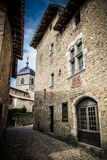 Medieval village of Perouges, France stock photo
