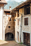 Medieval village of Pranzo, Italy. Medieval stone houses in the village of Pranzo, Province of Trento, Italy Stock Images