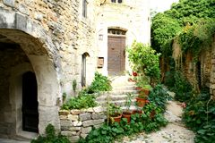 Medieval village in Provence Royalty Free Stock Photo