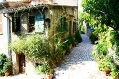 Medieval village in Provence Stock Image