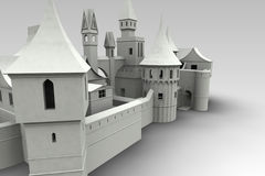 Medieval Village Render Royalty Free Stock Images