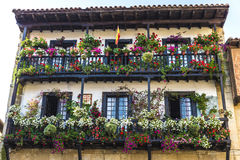 Medieval village of Santillana del Mar in Spain. Facade of a typical house of the medieval village of Santillana del Mar in Cantabria, Spain Royalty Free Stock Photo