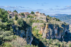 The medieval village of Siurana, Spain Stock Photography