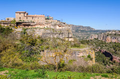 The medieval village of Siurana, Spain Royalty Free Stock Photos