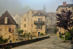 Medieval village in Southwestern France. Stock Photos