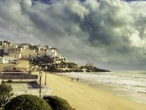 The Medieval Village of Sperlonga, Italy Royalty Free Stock Images