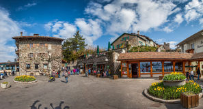 Medieval Village Square, Yvoire , France Royalty Free Stock Images