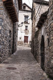 The medieval village of Torla in Spain pyrinees of Aragon Stock Photography