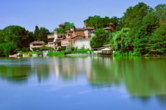 Medieval village in Turin Stock Photography