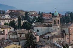 Medieval village: Verucchio (Rimini), Italy. A view of a italian medieval Village near Rimini. Verucchio Stock Photos