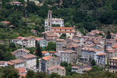 Medieval village of Vico in Corsica, France Royalty Free Stock Images